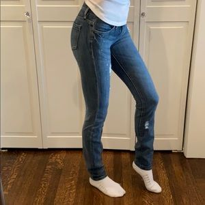 Blank NYC Distressed Skinny Low Rise Jeans